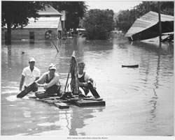 Friday, July 13, 1951 the Kansas City flood through Argentine, KS